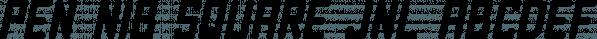 Pen Nib Square JNL font family by Jeff Levine Fonts
