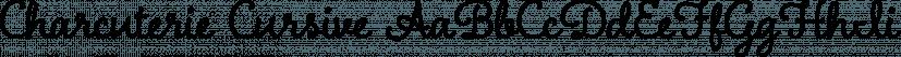 Charcuterie Cursive font family by Laura Worthington