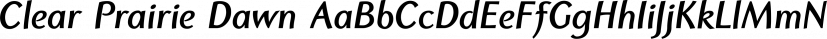 Clear Prairie Dawn font family by Quadrat Communications