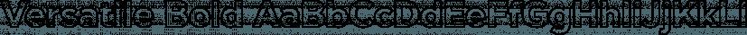 Versatile Bold font family by Borges Lettering & Design