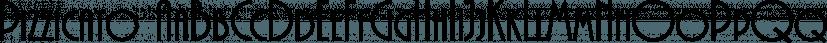 Pizzicato font family by FontSite Inc.