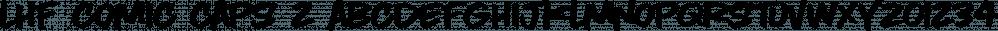 LHF Comic Caps 2 font family by Letterhead Fonts