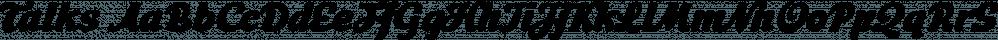 Talks font family by Eurotypo
