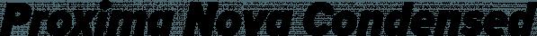 Proxima Nova Condensed font family by Mark Simonson Studio