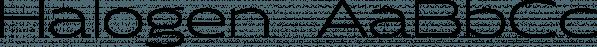 Halogen  font family by Positype