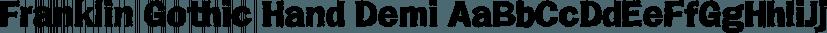 Franklin Gothic Hand Demi font family by Wiescher-Design
