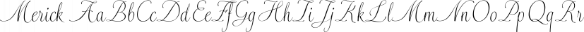 Merick font family by Eurotypo