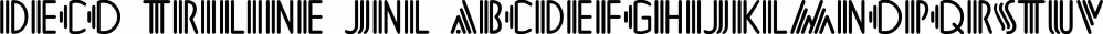 Deco Triline JNL font family by Jeff Levine Fonts