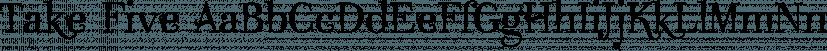 Take Five font family by Wiescher-Design