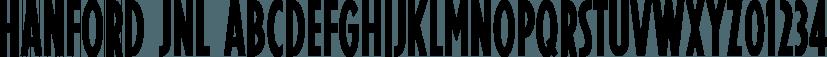 Hanford JNL font family by Jeff Levine Fonts