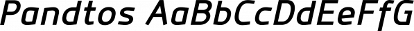 Pandtos font family by dayflash