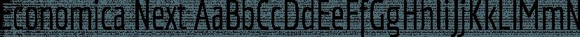 Economica Next font family by Underground
