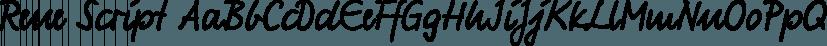 Rene Script font family by FontSite Inc.