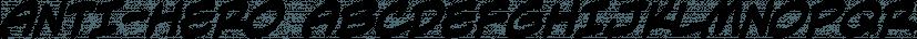 Anti-Hero font family by Blambot