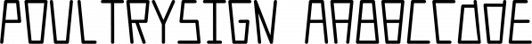 PoultrySign font family by Ingrimayne Type