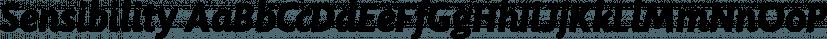 Sensibility font family by Shinntype