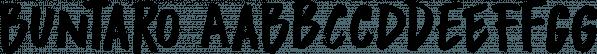 Buntaro font family by Hanoded