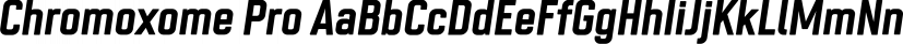 Chromoxome Pro font family by thmbnl.