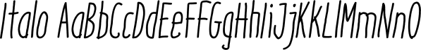 Italo font family by Antipixel