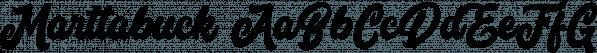 Marttabuck font family by Letterhend Studio