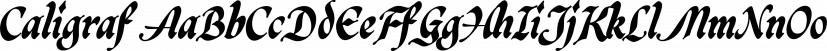 Caligraf font family by Måns Grebäck