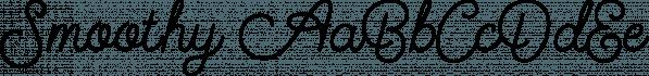 Smoothy font family by Ian Barnard