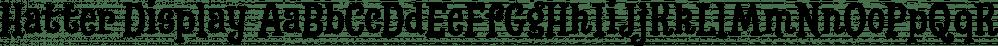 Hatter Display font family by Rodrigo Typo