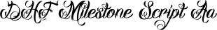 DHF Milestone Script font family mini