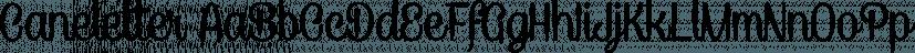 Caneletter font family by Måns Grebäck