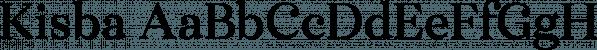 Kisba font family by Moritz Kleinsorge