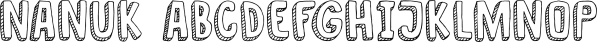 Nanuk font family by Hanoded