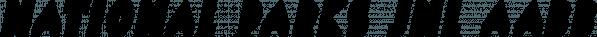National Parks JNL font family by Jeff Levine Fonts