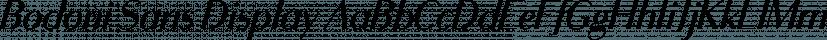 Bodoni Sans Display font family by Jason Vandenberg