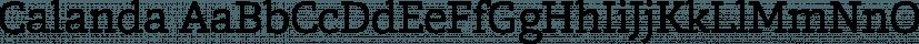 Calanda font family by Hoftype