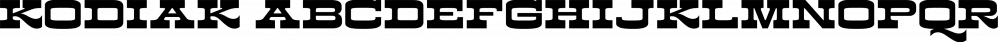 Kodiak font family by Borges Lettering & Design