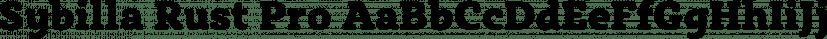 Sybilla Rust Pro font family by Karandash