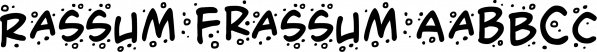Rassum Frassum font family by Comicraft