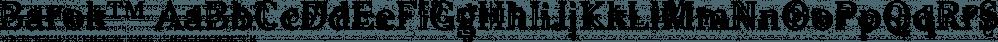 Barok™ font family by MINDCANDY