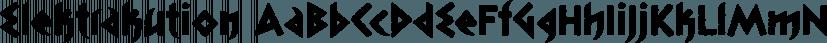 Elektrakution font family by Comicraft