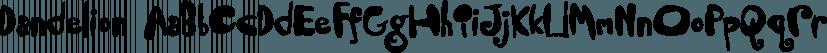 Dandelion font family by Fonthead Design