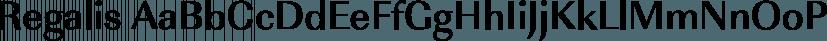 Regalis font family by FontSite Inc.