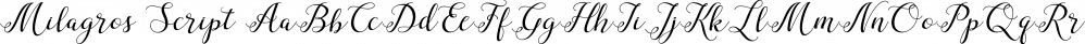 Milagros Script font family by Bonjour Type