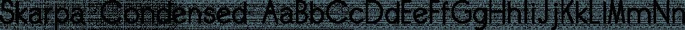 Skarpa Condensed font family by Aga Silva Fonts