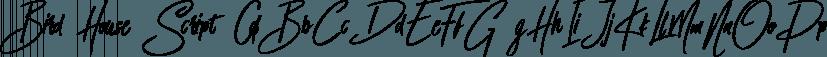 Bird House Script font family by Angga Mahardika