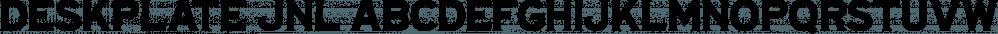 Deskplate JNL font family by Jeff Levine Fonts