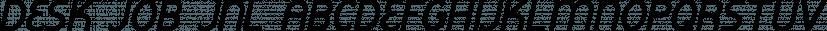 Desk Job JNL font family by Jeff Levine Fonts
