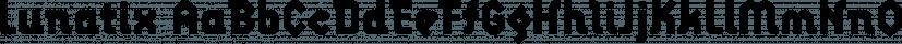 Lunatix font family by Emigre