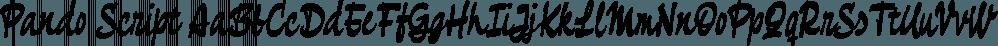 Pando Script font family by Resistenza.es