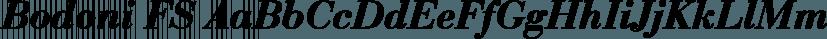 Bodoni FS font family by FontSite Inc.