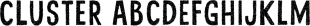Cluster font family mini